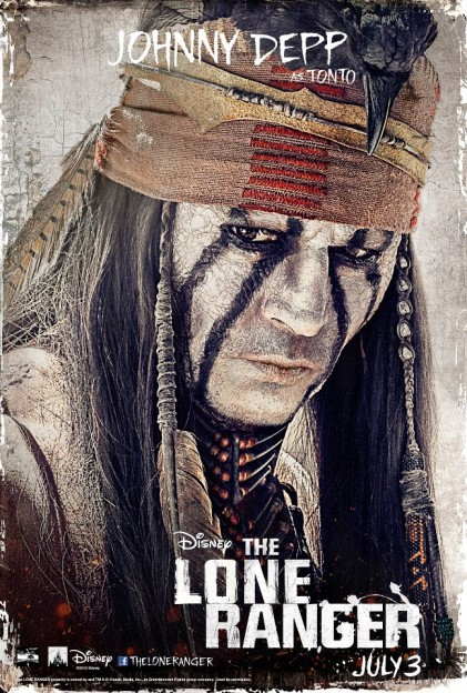 the-lone-ranger-johnny-depp poster