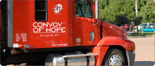 Convoy of Hope semi truck