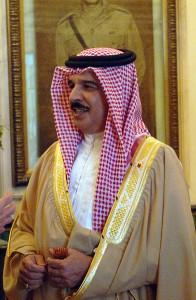 King of Bahrain, Hamad bin Isa al Khalifa Image/US Navy