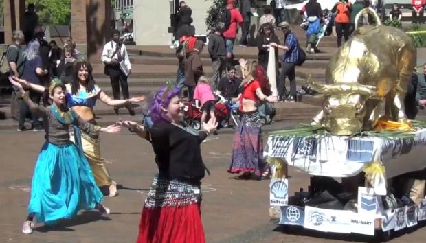 Occupy Wall Street protest Oregon golden calf