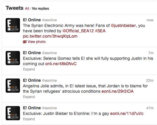 e-online-twitter-hacked