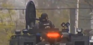 Armored vehicle on the streets of Boston Image/Video Screen Shot