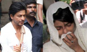 Shah Rukh Khan present as Priyanka Chopra's father's cremation. Image Courtesy: SRK Fan Club Facebook Page