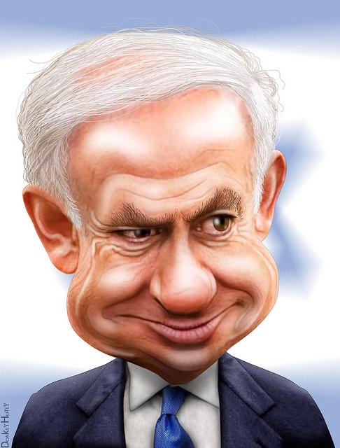 Benjamin Netanyahu  photo/ donkey hotey