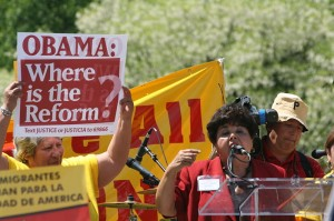 Supporters of immigration reform photo from 2010 protests Immigration Reform Leaders Arrested in Washington DC