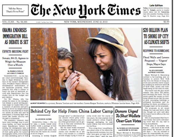NY Times screenshot cover story immigration