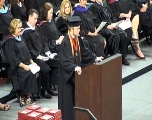 screenshot of South Carolina graduation speech