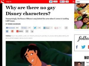 Salon why Disney gay characters