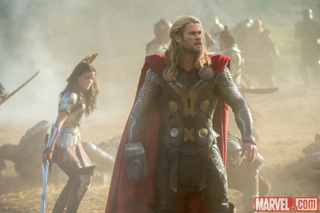 Sif and Thor dark world photo