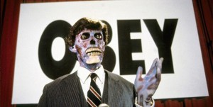 They Live obey speaker photo