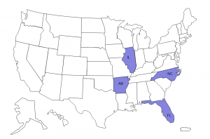 States under the current investigation map Image/CDC