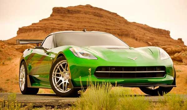 transformers-4-new-cars green corvette