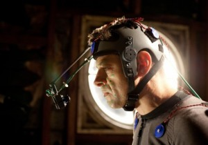 """Andy Serkis as Caesar filming """"Dawn of the Planet of the Apes"""""""