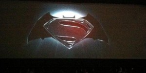 Batman Superman logo World's Finest SDCC photo