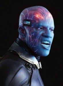 Jamie Foxx close up Electro Amazing Spider-man
