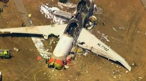 Plane crash San Francisco California