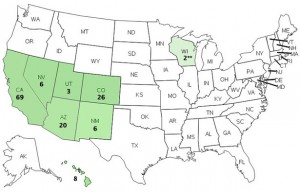 Hepatitis A outbreak map Image/CDC