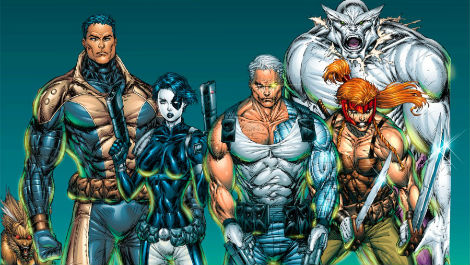 X-force team photo Marvel Comics