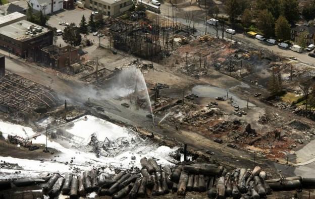 aerial photo Canada train derailed photo