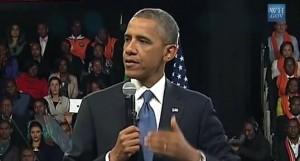 photo screenshot Obama speaking 2013