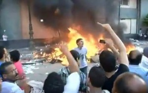 Egypt protests have led to destruction of several Coptic Churches all over the country Image/Video Screen Shot