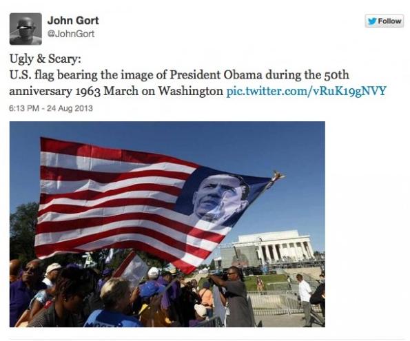 Obama flag at rally