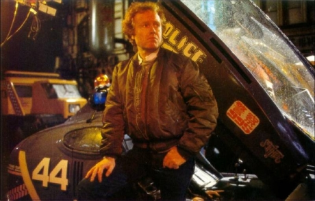 "Ridley Scott on the set of ""Blade Runner"""