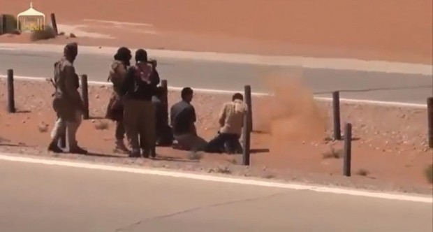 Sunni Muslims execute truckers in a video - one example of the rise of violence in the Middle East against religious minorites