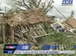 Destruction from Typhoon Labuyo Image/Video Screen Shot