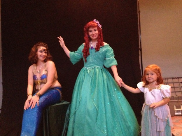 A 'mermaid' joined Ariel for photos with fans young and old at 'The Little Mermaid Jr' photo Terra Corbin