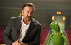 muppets-most-wanted-ricky-gervais-and kermit the frog