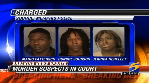three-suspects Mario Patterson Dondre Johnson Jerrica Norfleet