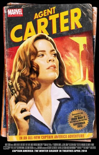 Agent Carter pulp art comic book poster