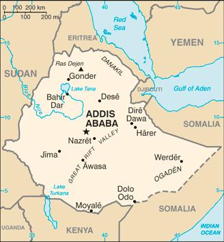 Ethiopia map Image/CIA
