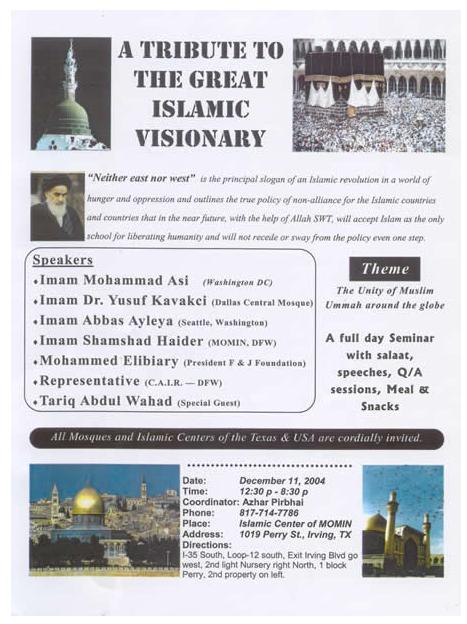 ISlamic tribute to Ayatollah Iran list of speakers