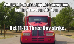 Truckers strike to shut down government in October