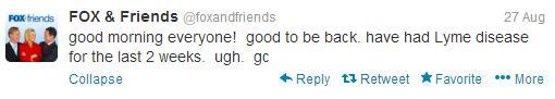 Gretchen carlson Lyme tweet
