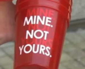 """""""Mine. Not Yours."""" cup Image/Video Screen Shot"""