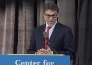 Texas Gov. Rick Perry Image/Video Screen Shot