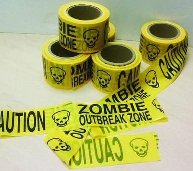 Zombie Outbreak Zone caution tape Image/TFAW screen shot