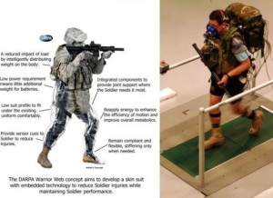 Like the DARPA Warrior Web Project, new technology is truly amazing Suit concept. (U.S. Army) (October 10, 2013)