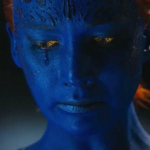 Jennifer Lawrence Mystique crying