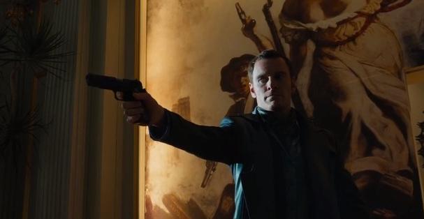 Michael Fassbender as Magneto with gun XMen Days Future Past