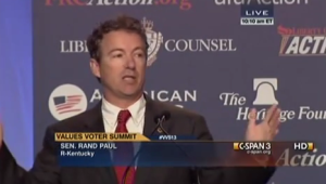Rand Paul speaking at Values Voter Summit 2013