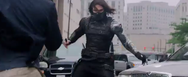Winter Soldier face Cap Steve Rogers in Captain AMerica photo