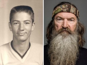 phil-robertson-from-duck-dynasty young and beardless and now