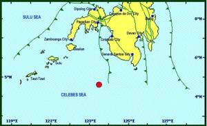Sultan Kudarat earthquake map Image/Phivolcs