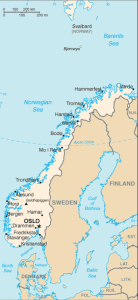 Norway map Image/CIA
