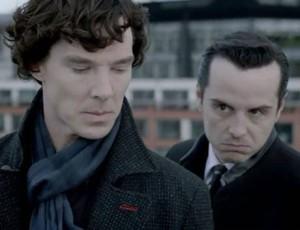 Benedict Cumberbatch Andrew Scott Sherlock season 2 finale photo