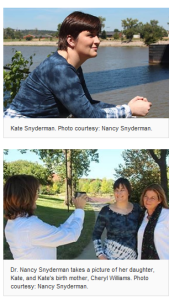 Kate Snyderman Dr Nancy Snyderman adoption story photos meeting birth mom